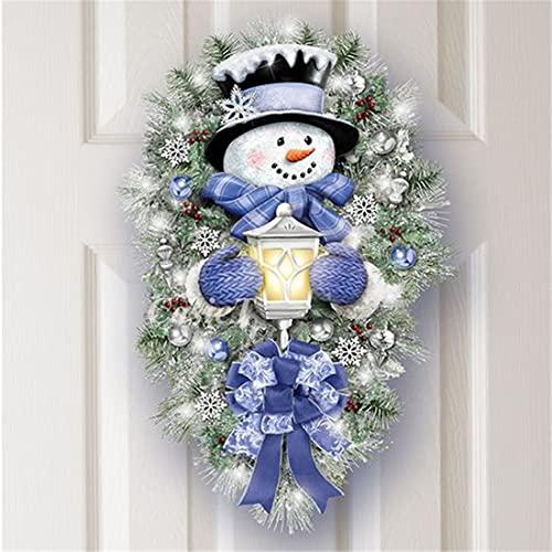 Christmas Warm Winter Welcome Snowman Wreath Stickers Xmas...