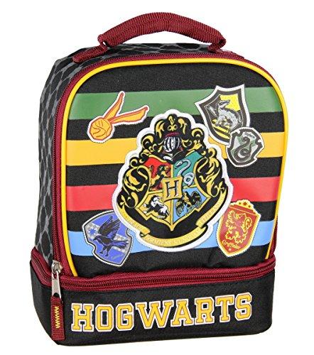 Harry Potter Lunch Box Kit aislado de doble compartimento Hogwarts Crest