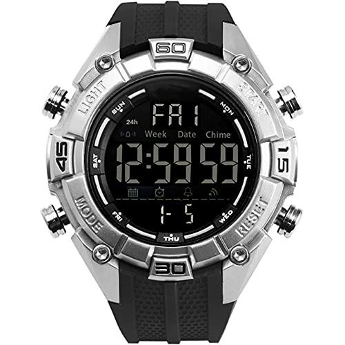 WTYU Reloj Digital Deportivo para Hombre, Al Aire Libre Corriendo 5atm Relojes Militares a Prueba De Agua con Retroiluminación, Alarma, Reloj De Calendario para Hombres D