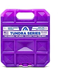 Long Lasting Ice Pack for Coolers, Camping, Fishing and More, Large Reusable Ice Pack, Tundra Series by Arctic Ice , Purple