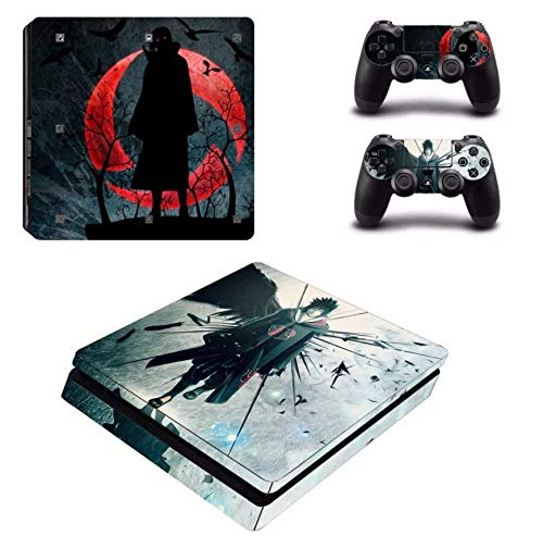 Decal Moments PS4 Slim Console Controllers Skin Vinyl Decals Stickers for Playstation 4 Slim (PS4 Slim Only) Uchiha Itachi