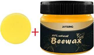 FunDiscount Natural Wood Seasoning Beeswax, Furniture Care Beewax, Wooden Bamboo Home Cleaning Cleaner and Protector Wax, Renew Grease Wood Polisher Conditioner Scratches Coverings Cream(100g)