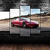 45Tdfc Bilder Red Tesla Roadster Auto auf der Straße