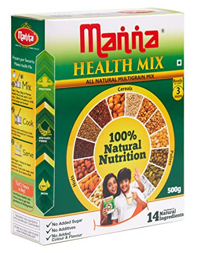 Manna Multigrains Health & Nutrition Drink - 500g (No Added Sugars & Preservatives)