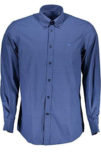 HARMONT & BLAINE CRA026002849 Camicia Maniche Lunghe Uomo Blu 801 L