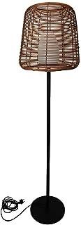 Lampadaire filaire design poly rotin pour extérieur LED blanc TALL BOHEME H150cm culot E27