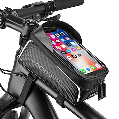 """Bike Phone Front Frame Bag Bicycle Bag Waterproof Bike Phone Mount Top Tube Bag Bike Phone Case Holder Accessories Cycling Pouch Compatible with iPhone 11 XS Max XR Fit 6.5"""""""