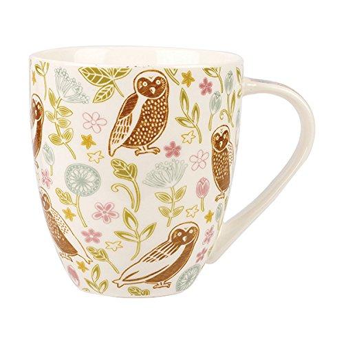 Il Caravan Trail Forest Owl Crush Mug, Ceramica, Multicolore, 10x 10x 10.5cm