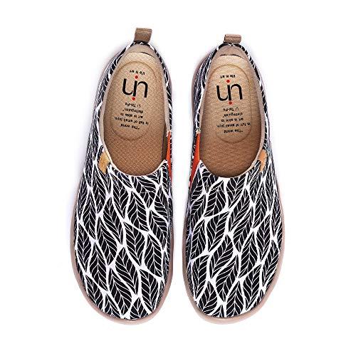 UIN Desigual Art Zapatos Sombra del árbol Casual comodas el naturalista imprimio Mujer  Lona Vestir Plano Mocasines Verano  Zapatillas Viaje Seguridad 41