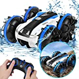 【WATERPROOF DESIGN】Equipped with waterproof rubber ring to protect inner accessory of the car which makes it possible to even drive on the water, amazing fun land & water RC toys 【2.4GHz REMOTE TECHNOLOGY】30M far distance remote control, 2.4G signals...