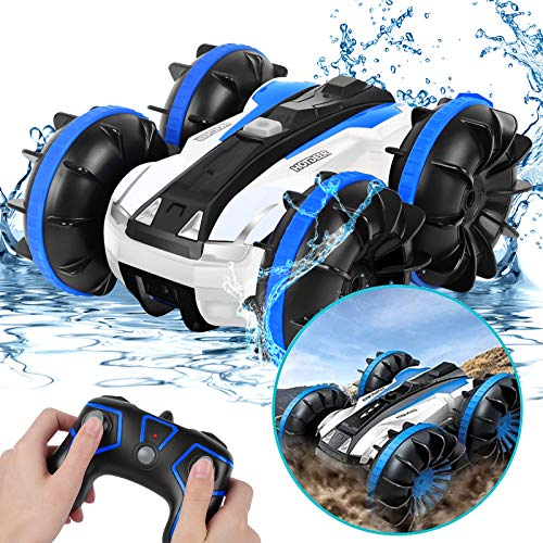 KINGBOT Remote Control Car RC Truck Toys, Electric Off Road Race Stunt Cars 2.4GHz 4WD Double Sided 360 Rotating, RC Monster Remote Control Vehicle Toy Gift for 4 5 6 7 8-12 Year Old Boy