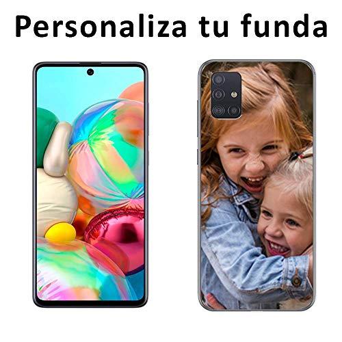 Mookase Funda Carcasa Personalizada para tu móvil Samsung Galaxy A71 con Foto, Imagen o Texto. Gel Flexible, Bordes Transparentes