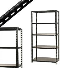 スチールラックのキタジマ NC-875 幅87.5×奥行45×高さ180cm 5段 ブラック 70kg/段