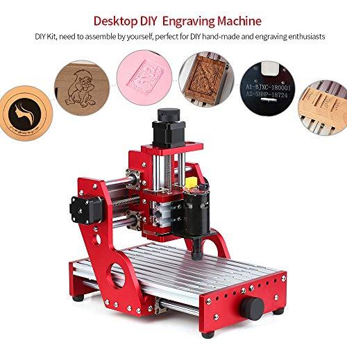 Vogvigo CNC 1310/1419 Metallgravur Schneidemaschine Router, Mini-CNC-Fräsmaschine DIY mit allen Metallrahmen für weiche Metallgravur Schneiden Aluminium Kupfer Holz PVC PCB (1419)