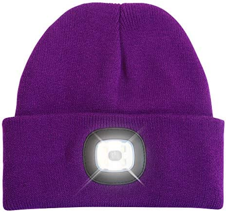 HEAD LIGHTZ Beanie Hat with Light Warm Knit Cap for Winter Safety LED 3 Brightness Settings product image