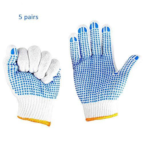 Bescherming van anti-slip lijm Dot Arbeidsbescherming handschoenen, werken slijtvaste Dispensing Handschoenen