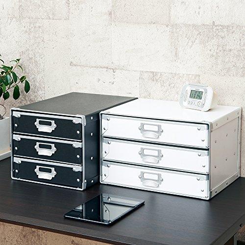 ナカバヤシデスクトップケースレターケース3段A4タテ型ホワイトFBD-NA43W