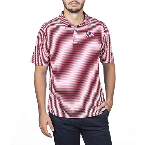 NCAA Fresno State Bulldogs Male Team Color Stretch Bunker Polo, Fresno State Bulldogs True Red, Large