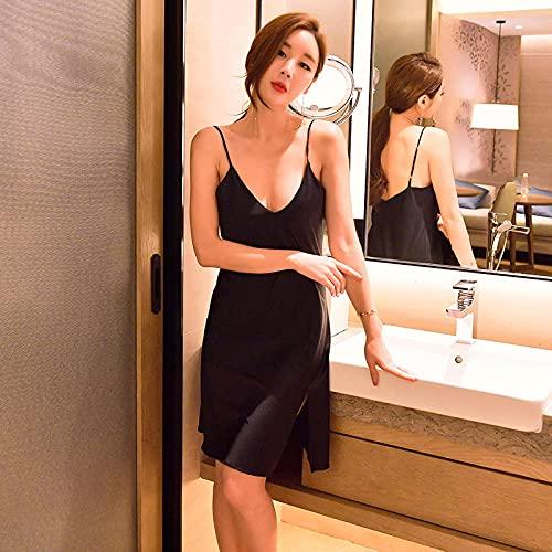 CHBY Ropa erótica de Mujer Ropa erótica Sling Pyjamas Sexy Nightdress Spinning Sexy Lingerie Home Service-Black_L