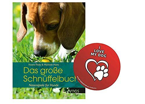 Kynos Das große Schnüffelbuch: Nasenspiele für Hunde - Das besondere Hundebuch (Gebundenes Buch) + Hunde Sticker