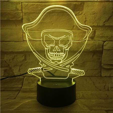 Luz de noche de cuento de hadas de dibujos animados Lámpara LED 3D efecto de luz visual luz de noche para niños dormitorio para niños 7/16 cambio de color luz de noche