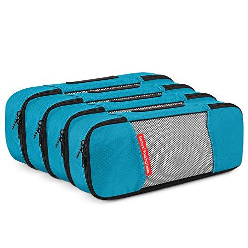 Gonex Sacs à bagages (6 unités) Peut être utilisé comme sac à vêtements (4 Narrow) Bleu