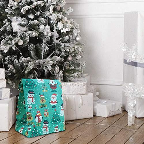 10er Packung Weihnachtsgeschenkbeutel Exquisite wiederverwendbare PVC-Papierboxen für Geschenke Süßigkeiten Kekse Bundle Weihnachtsgeschenkverpackung (4,72 x 9,02 x 2,95 Zoll)