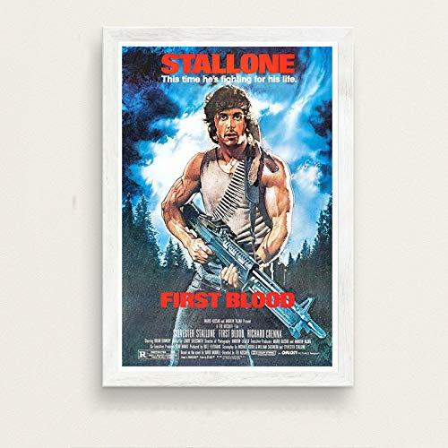 zxddzl Classic Movie Stallone Rambo Kunst malerei Poster Wand Dekoration 39 50 * 70