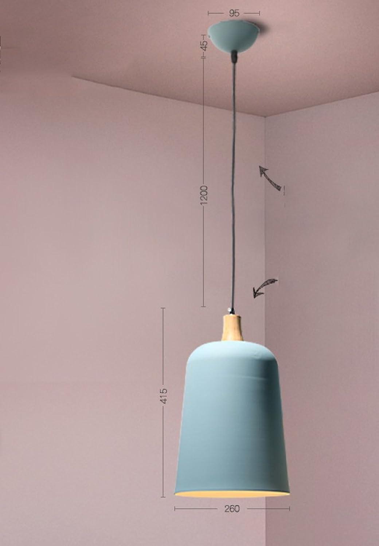 DHG Moderne Minimalistische Kreative Leuchter der nordischen Art, funktionierende Farbe schmiedeeiserne Beleuchtung des Restaurants, Einzelne Bartisch-Leuchter der Mode