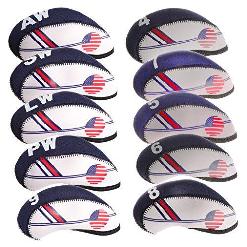 perfk Golf Schlägerhauben Golfschläger Headcover Abdeckung Hülle Eisen Hauben, 10er / Set