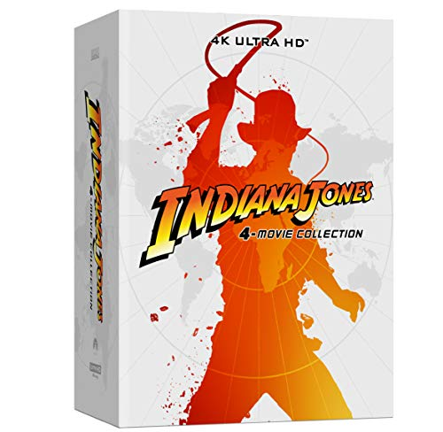 Coffret Indiana Jones 4 Films [Combo 4 UHD 5 BLURAY Limitee] [Édition SteelBook 4K Ultra HD Blu-Ray Bonus]
