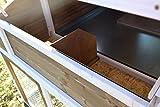 dobar 23033FSC Großer dekorativer Hühnerstall oder Kleintierstall XL mit Freigehege, Pflanzkasten und Legebox, 126 x 128 x 143 cm, weiß-braun-schwarz