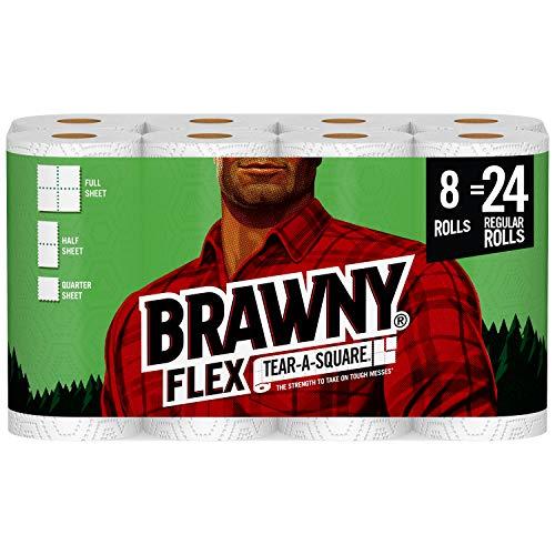 Brawny Flex Paper Towels, 8 Triple Rolls = 24...