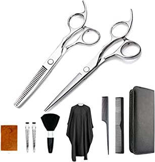 Barber Scissors Professional Hair Cutting Scissors 15 Pcs Set Stainless Steel Hairdressing Shears Set Stainless Steel Thin...