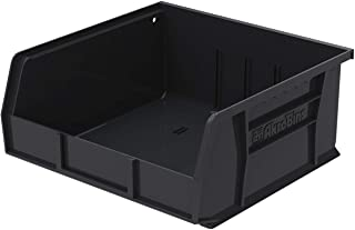 $47 » Akro-Mils 30235 Plastic Storage Stacking Hanging Akro Bin, 11-Inch by 11-Inch by 5-Inch, Black, Case of 6