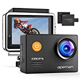 APEMAN Action Cam A70,1080P Full HD WiFi 14MP Unterwasserkamera Digitale wasserdichte 30M Helmkamera...