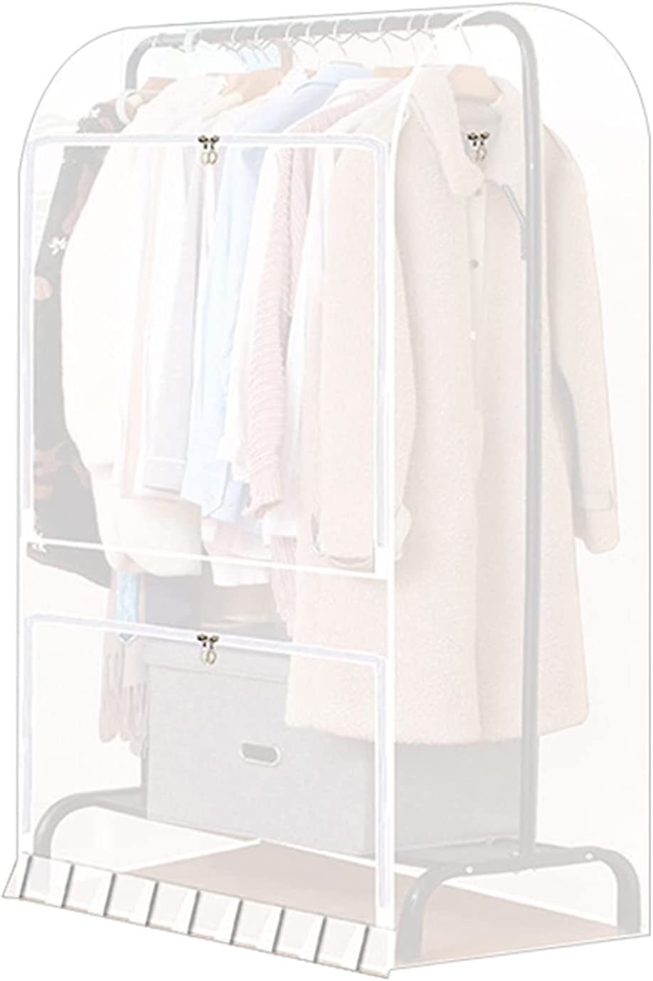 Garment Rack Cover 4.9ft PEVA Clothing Gorgeous 150cm Discount mail order Translucent