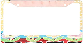 Personalized License Plate Frame for Women, Car Tag Frame,Cute License Plate Cover, License Plate Holder 2 Hole
