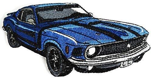 BeyondVision klassieke auto's, collectie geborduurd ijzeren naaien vlekken 6 X3.1 grijs, zwart, wit, rood
