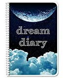 BookFactory Dream Journal/Dream Diary Book/Log Book, 120 Pages - 6' x 9', Durable Thick Translucent Cover, Wire-O Binding (LOG-126-69CW-A(DreamDiary)-DX)