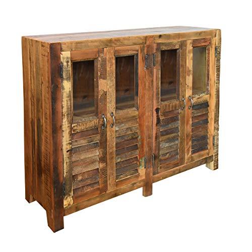 Vidal Regalos Mueble de 4 Puertas de Madera 118 cm