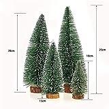 Bogoro 4 Mini Weihnachtsbaum Künstlicher, Mini Weihnachtsbäume Schneetanne, Mini Tannenbaum Christbaum mit Ständer Weihnachtsdeko Weihnachten Tischdeko Winterdeko Decoration - 4