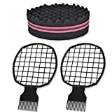 TBoxBo 2Pcs Afro Twist Comb 1Pcs Hair Sponge Brush Twist Hair...