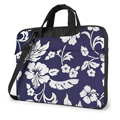 XCNGG Bolsa de computadora de Flores Blancas de Hawaii, maletín de computadora portátil Duradero,...