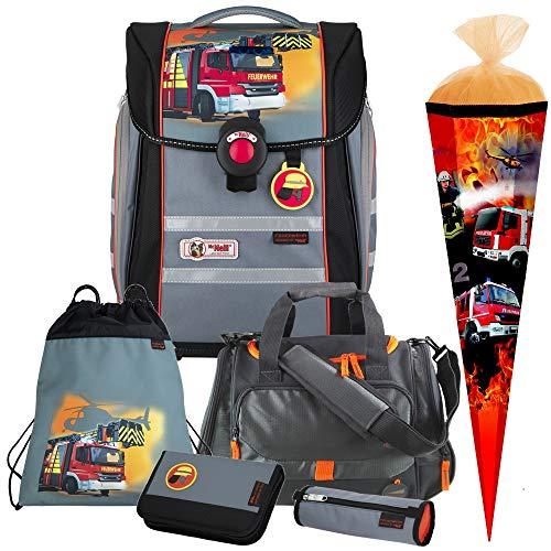Feuerwehr - Firefighter - McNeill Ergo Primero Schulranzen-Set 6 TLG. mit Sporttasche und Schultüte