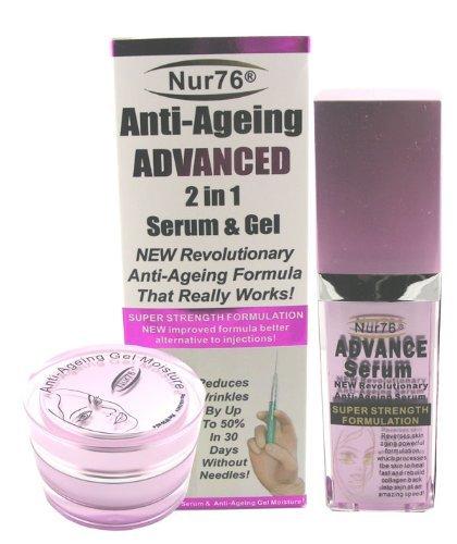 nur76® anti envejecimiento suero avanzada 2en 1y Gel