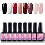 Saint-Acior Kit per Unghie Smalti in gel 8pz Semipermanente Soak off Nail gel Manicure per Unghie completo