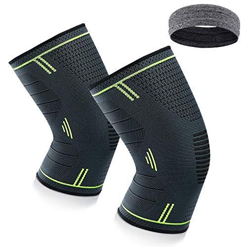 Kniebandage, Knee Bandage Sport Meniscus Osteoarthritis – for Men – Pack of 2 Compression Knee Pads Knee Für Arthritis,Schmerzlinderung, Wiederherstellung nach Verletzungen, für Damen und Herren
