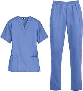 Women's Medical Uniform Scrub Set – Includes Top and Pant (XS-3X, 14 Colors)