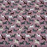 Jersey Pferde, STANDARD 100 by OEKO-TEX, altrosa (50cm x